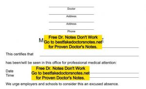 doctor's notes template